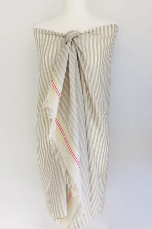 Grey Miami Stripe Sarong