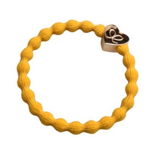 Mustard Yellow Gold Heart Bangle Band