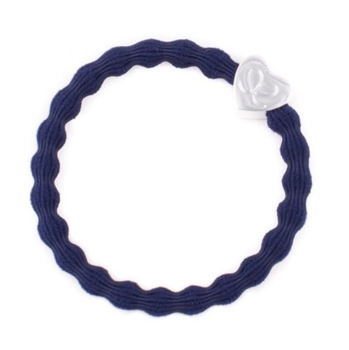 Navy Heart Bangle Band