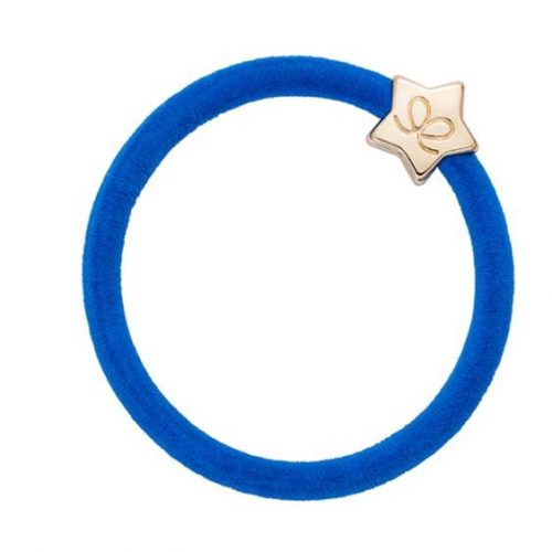 Royal Blue Velvet Gold Star Bangle Band