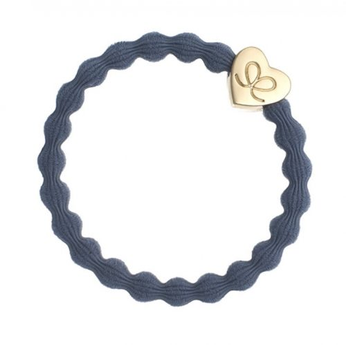 Dove Blue Gold Heart Bangle Band