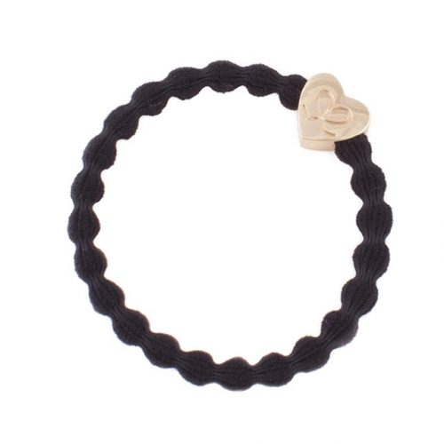 Black Gold Heart Bangle Band