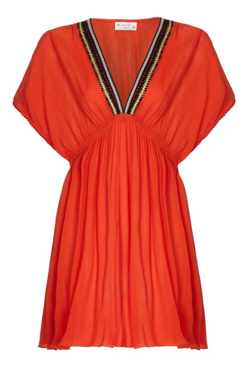 Nooki Orange Lagoon Kaftan Front