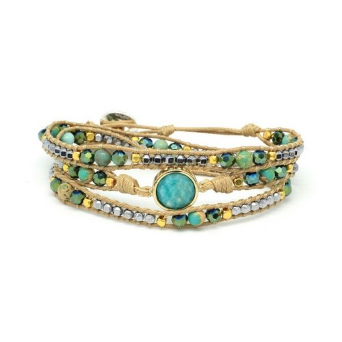 Boho Betty America Wrap Bracelet Teal