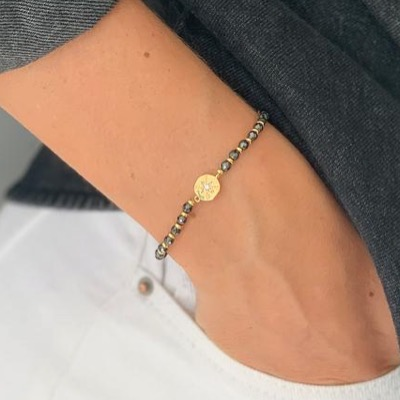 Boho Betty Carimba Bracelet Gold Black