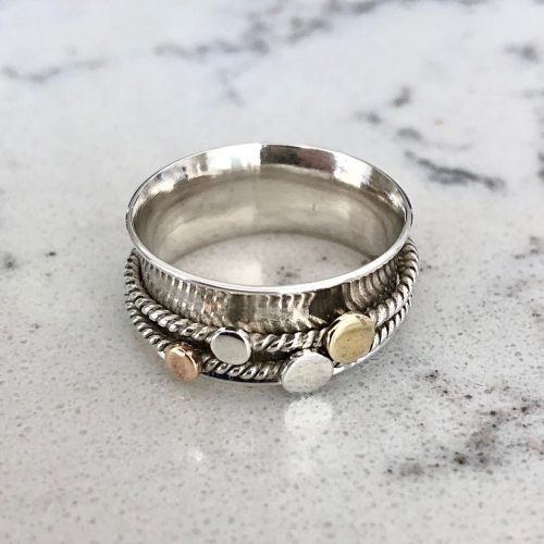 Sterling Silver Twist Spinning Ring