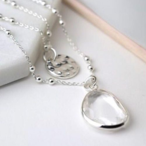 Eloise Layered Necklace Silver